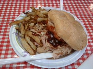 Turkey Sandwich w/ Mild BBQ Sauce
