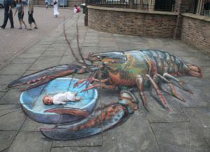 A lobster ate my baby!