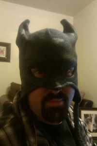 Bethany got me this cool Batman hat!