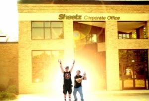 Dirtbag Rob & Eric AiXeLsyD outside of Sheetz Corporate Office some time in 2004