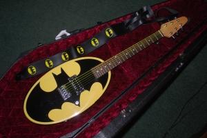 Six Flags Batman Logo Guitar