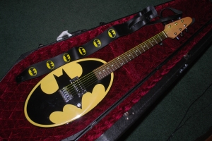 Six Flags Batman Logo Guitar