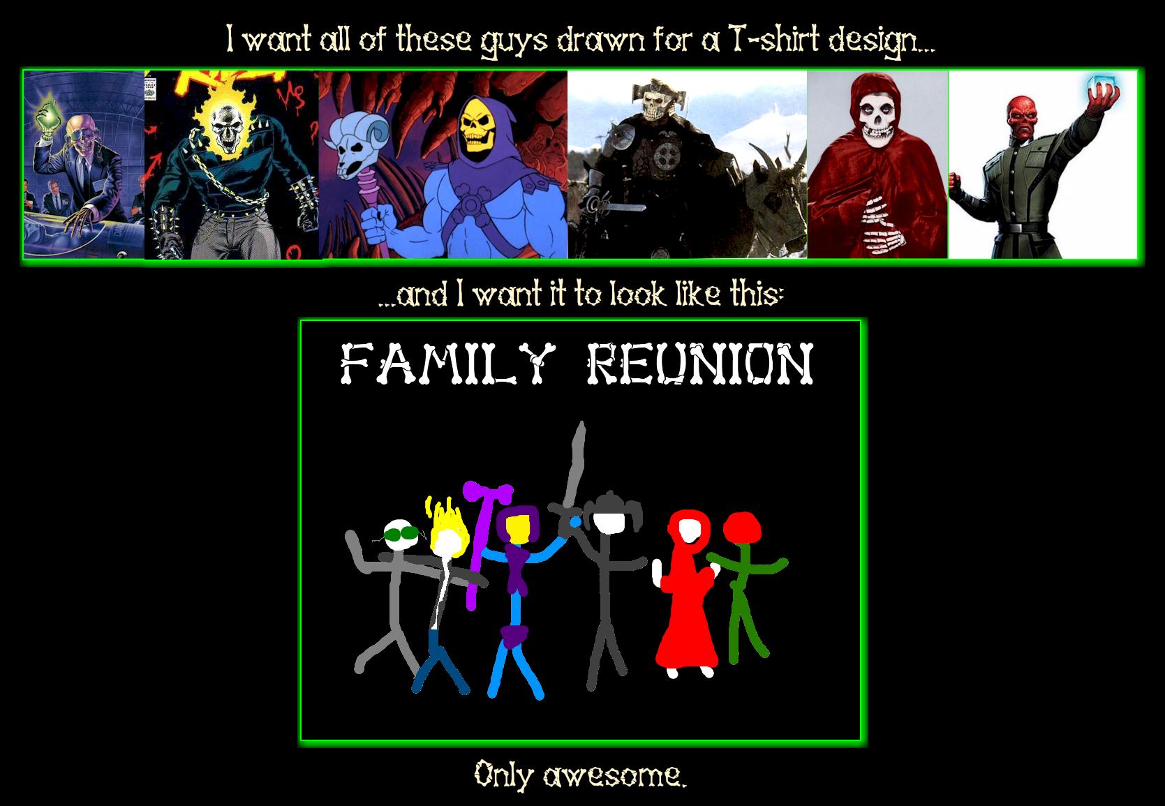 Skull Heads Family Reunion