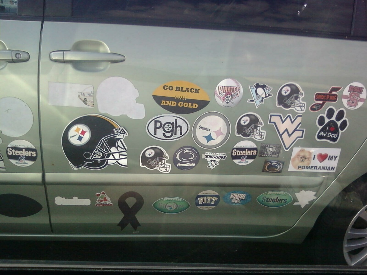 The Stickermobile! Black and Gold! Or Blue & Gold! Or Anything & Gold! Go Gold!