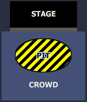 STAGE | PIT | CROWD