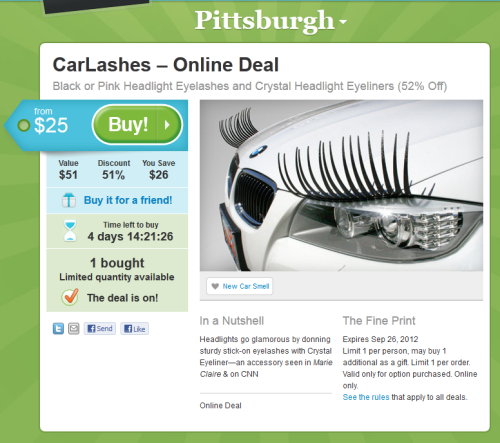Car Lashes ...Wait, car-freaking-lashes?
