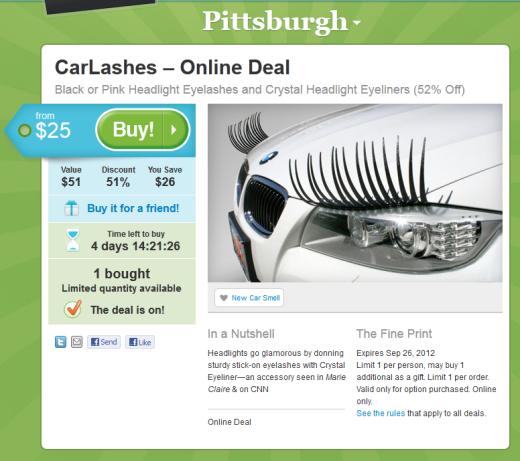 Car Lashes ...Wait, car-freaking-lashes?