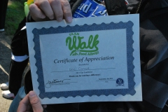 2011 Food Allergy Walk Pittsburgh - Appreciation Certificate