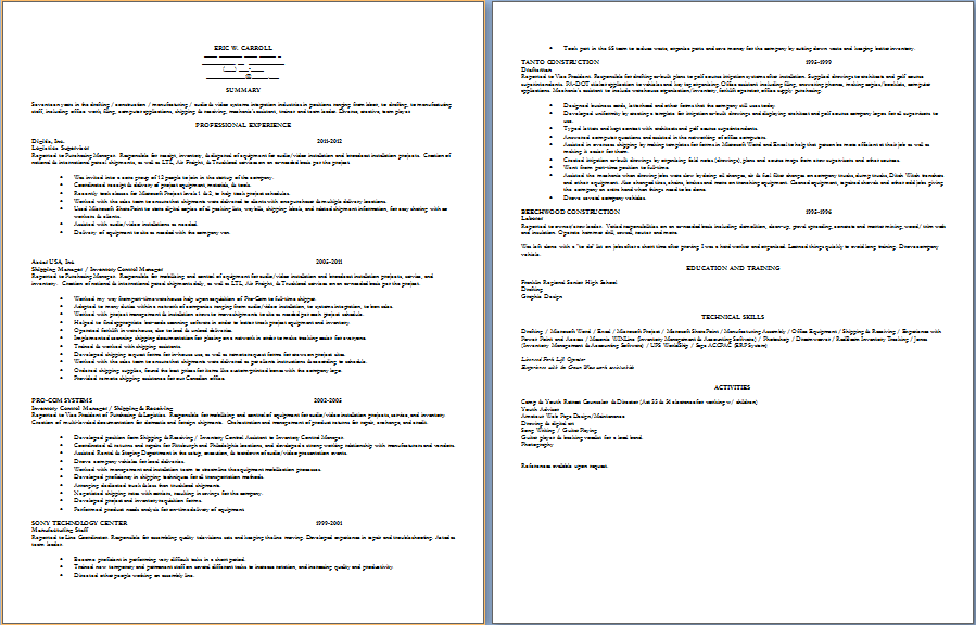 Please help me with my resume!
