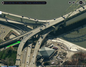 The Fort Pitt Bridge - Chaos by Bing Maps