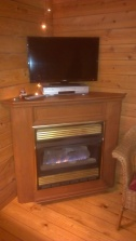 Forest Ridge Campgroundsa and Cabins   Allegheny Cabin - Fireplace & TV Stand