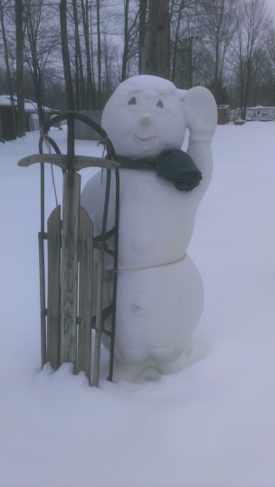 Forest Ridge Campgroundsa and Cabins | Snowman Greeter!