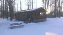 Forest Ridge Campgroundsa and Cabins | Allegheny Cabin - in the snow
