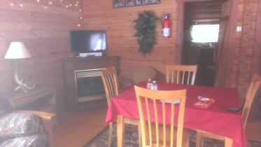 Forest Ridge Campgroundsa and Cabins | Allegheny Cabin - TV & Table