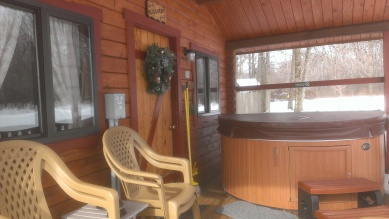 Forest Ridge Campgroundsa and Cabins | Allegheny Cabin - front porch