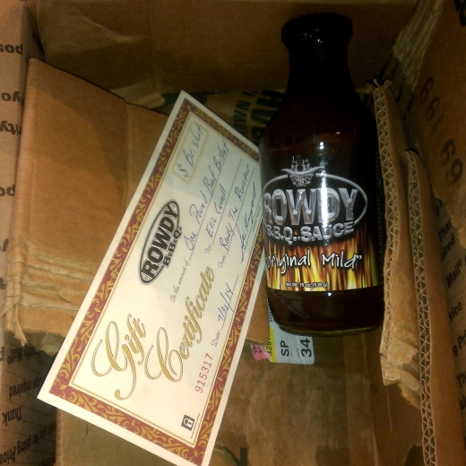 Rowdy BBQ - Gift Certificate & BBQ Sauce