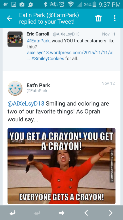 EVERYONE GETS A CRAYON!