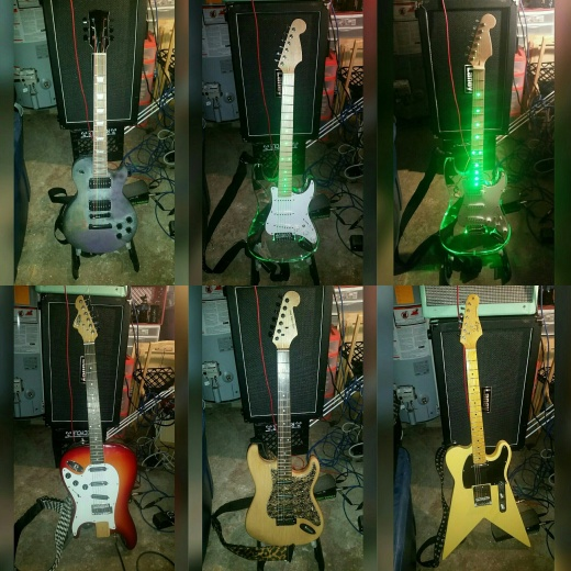 Guitars Demoed this time around