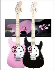 Hello Kitty Squier Stratocaster