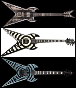Wylde Audio Warhammer, Dean Split Tail, Gibson ZV