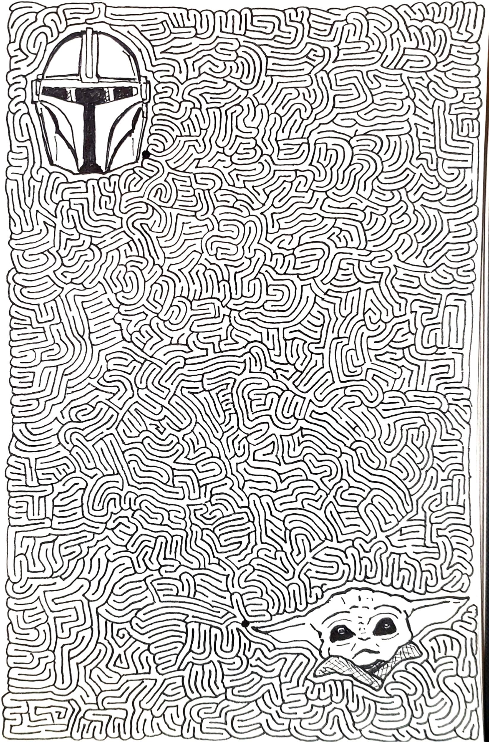 Mandalorian Maze by @AiXeLsyD13