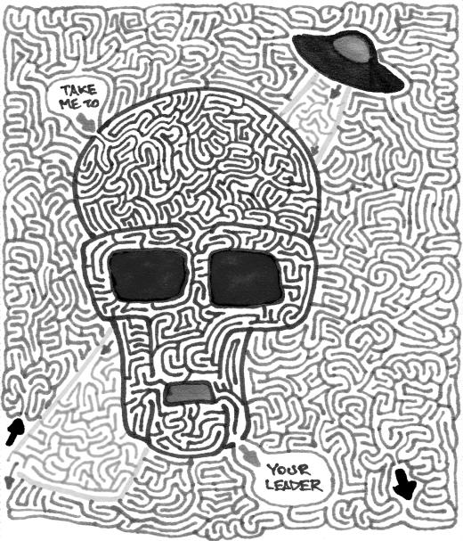 Alien Maze (Black & White)