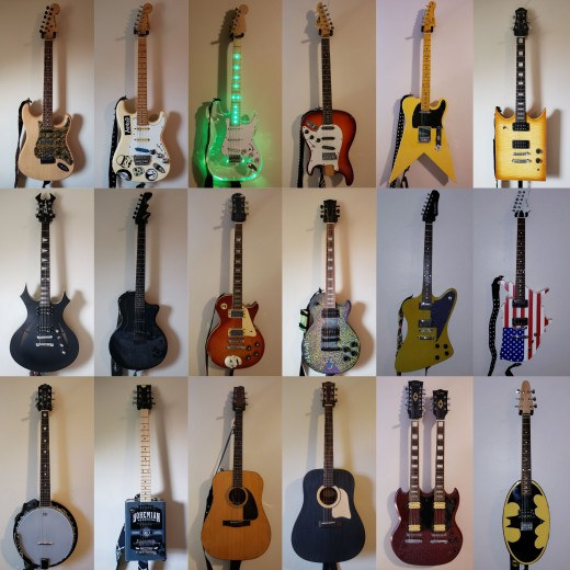 A bunch of @AiXeLsyD13'sguitars!