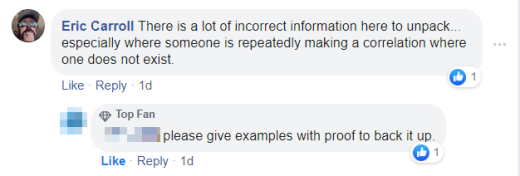 Please give examples with proof to back it up.