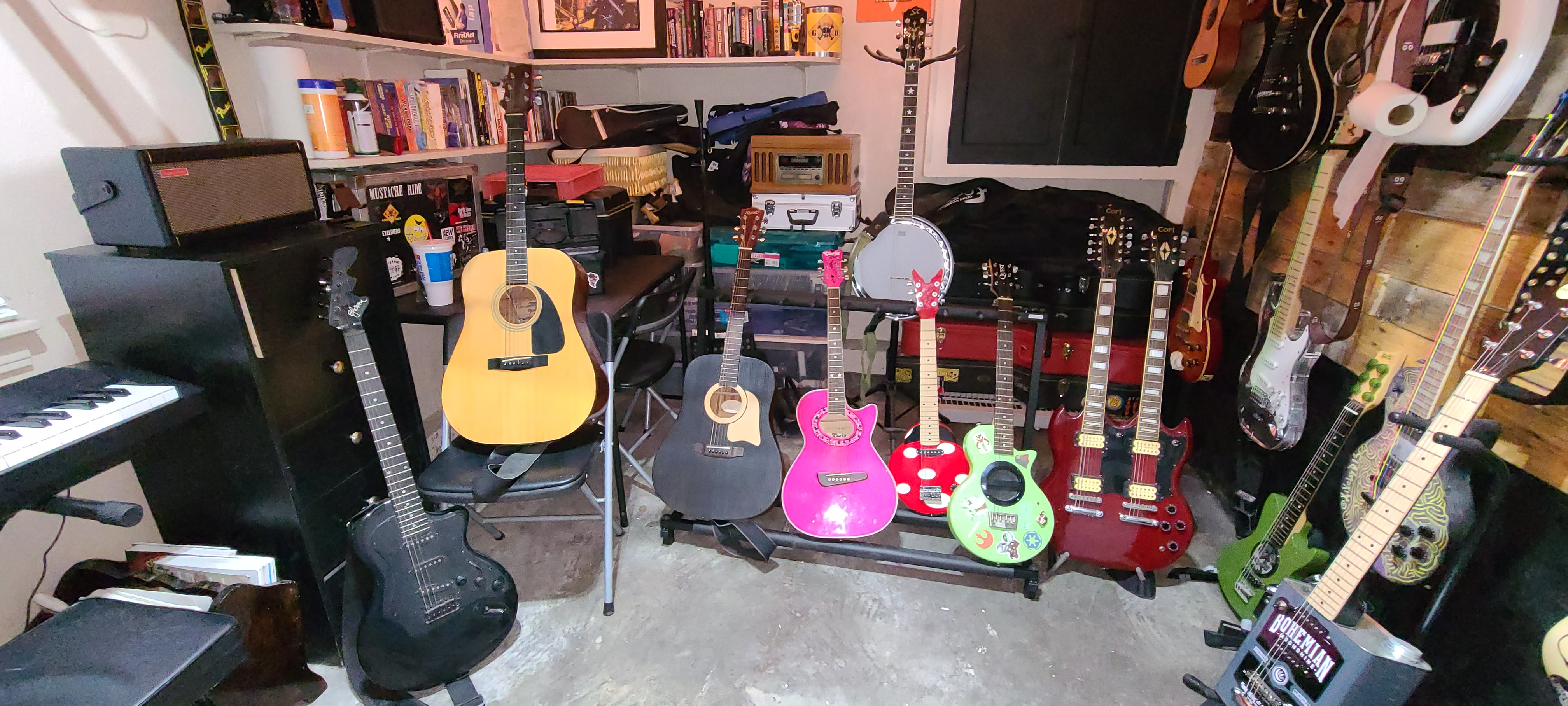AiXeLsyD13's guitars - I ran out of walls.